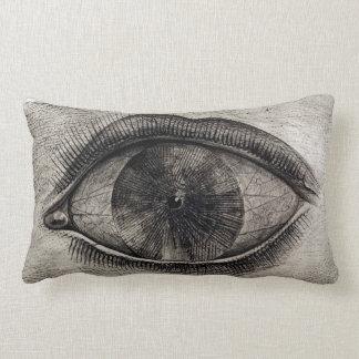 BIG EYE Black & White Graphic Modern Pillow