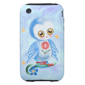 Big Eye Blue Owl Tough iPhone 3 Case