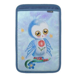 Big Eye Blue Owl MacBook Air Sleeve