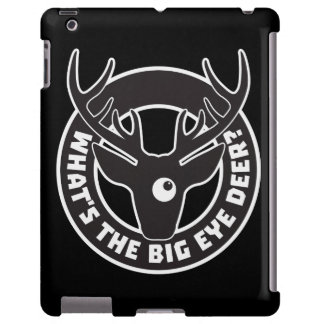 Big Eye Deer Black Barely There iPad 2 3 4 Case