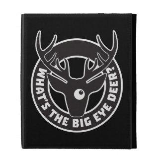Big Eye Deer Black iPad Folio iPad Folio Cover