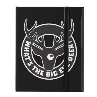 Big Eye Deer Black Powis iCase 2/3/4 Case iPad Folio Cover