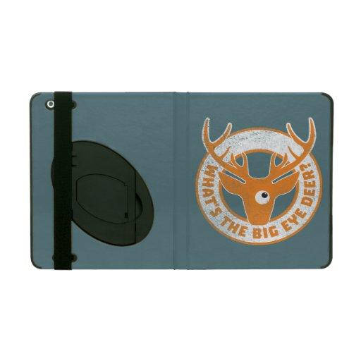 Big Eye Deer Worn Orange iPad Case