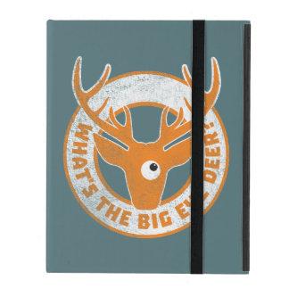 Big Eye Deer Worn Orange iPad Folio Case
