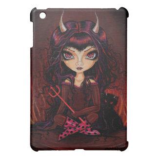 Big Eye Devil and Devil Cat iPad Case