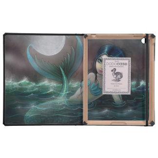 Big Eye Mermaid Fantasy Art iPad Folio Cases