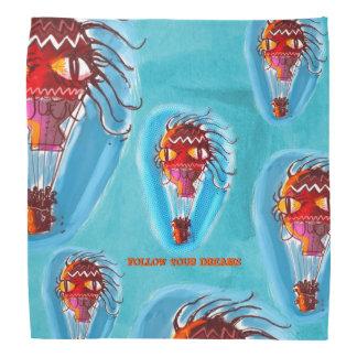 big eye witch quirky balloon bandana