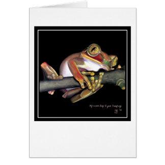 Big-Eyed African Tree Frog Card