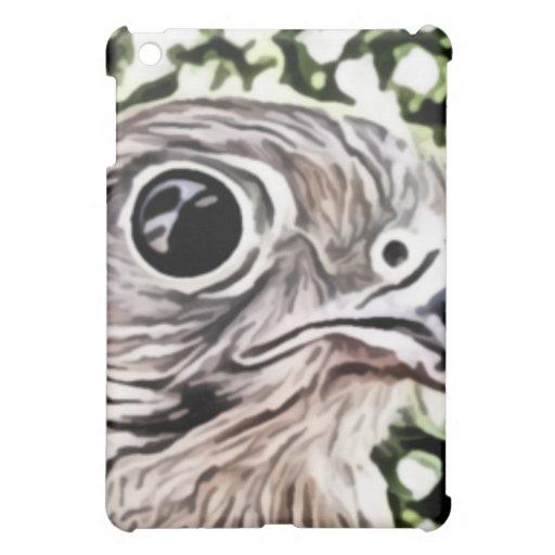 Big eyed bird painting iPad mini case