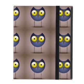 Big Eyed Blue Owl iPad Covers