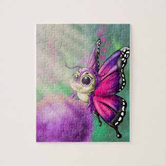 Big-Eyed Butterfly Cutie 8x10 Puzzle w/ Gift Box