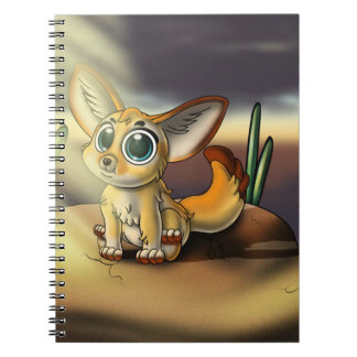 Big-Eyed Fennec Fox Cutie Spiral Photo Notebook