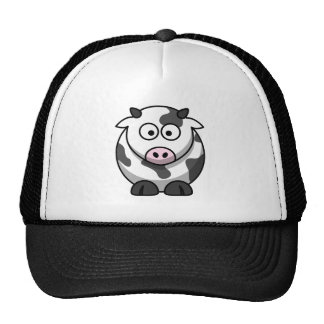 Big Eyed Funny Round Cartoon Cow Mesh Hats