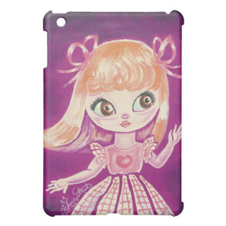Big Eyed girl with orange hair and brown eyes Case For The iPad Mini