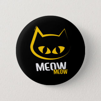 Big-Eyed Meow Yellow Cat button