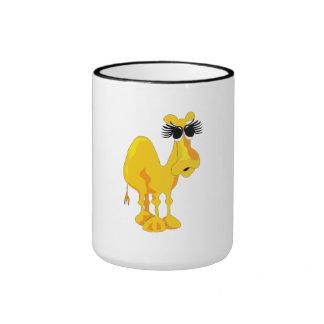 Big Eyelashes Camel Mug