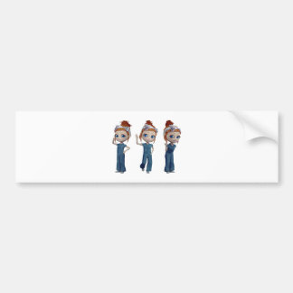 Big eyes doll Blue Bumper Sticker