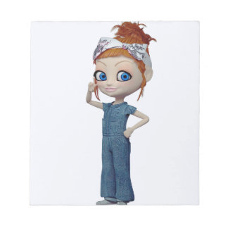 Big eyes doll Blue Notepad