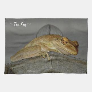 Big eyes Tree Frog Kitchen Towel