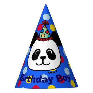Big Face Panda Cartoon Birthday Boy Hat