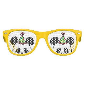 Big Face Panda Cartoon Birthday Kids Sunglasses