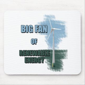 Big fan of renewable energy mouse pad