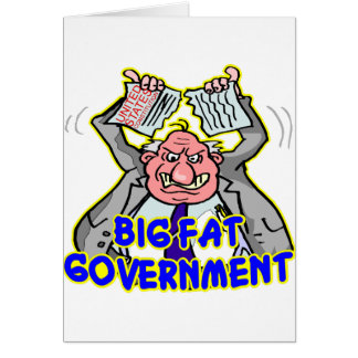 Big Fat Federal Government Ripping Up Constitution Greeting Card
