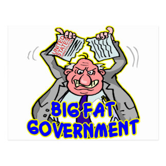 Big Fat Federal Government Ripping Up Constitution Post Cards