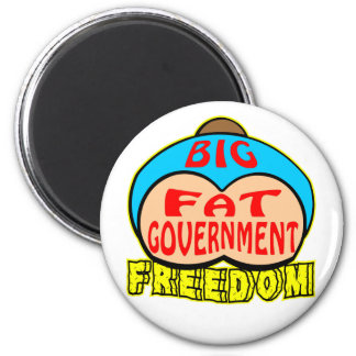 Big Fat Government Crushing Freedom 6 Cm Round Magnet