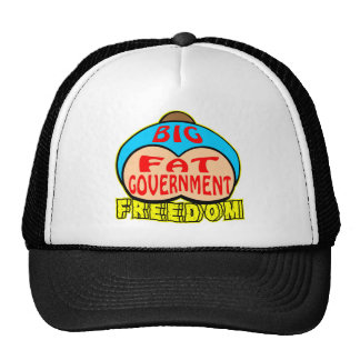 Big Fat Government Crushing Freedom Hats