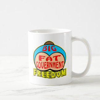 Big Fat Government Crushing Freedom Coffee Mugs