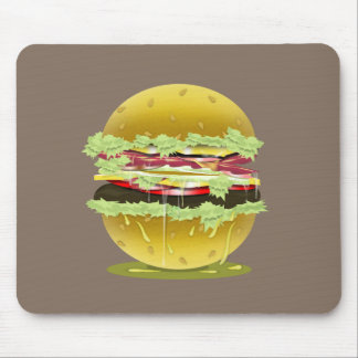 Big Fat Juicy Hamburger Mousepad