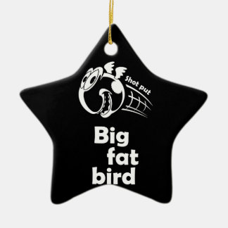 Big fat shot put bird ceramic ornament