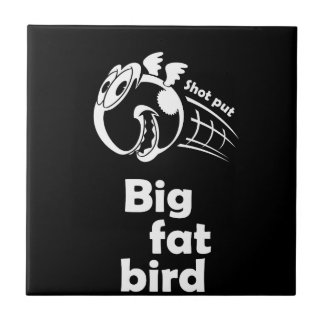 Big fat shot put bird ceramic tile