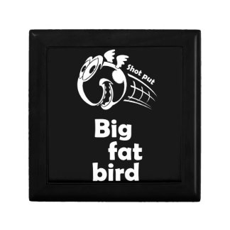 Big fat shot put bird gift box