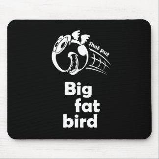 Big fat shot put bird mouse pad