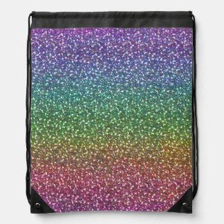 Big Faux Glitter Sparkles Shiny Rainbow Color Rucksacks