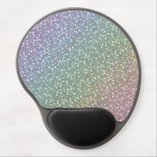 Big Faux Glitter Sparkles Shiny Rainbow Pearl Gel Mouse Pad