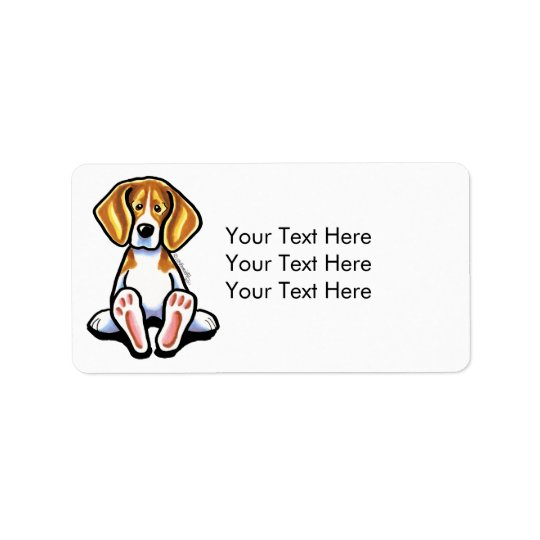 Big Feet Beagle Off-Leash Art™ Medium Address Label