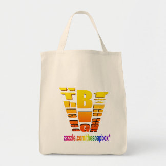 BIG Fing Deal Vertical Trans Grocery Tote Bag