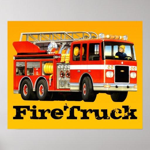 Big Fire Truck Print