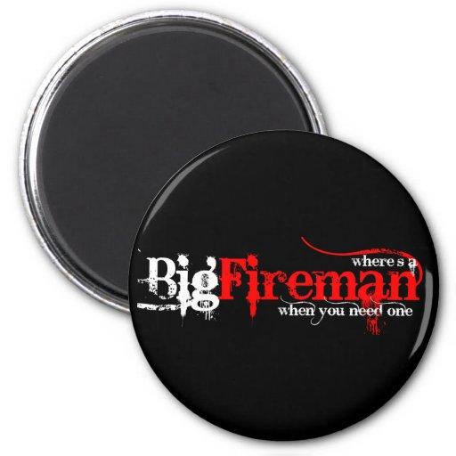 Big Fireman Fridge Magnets