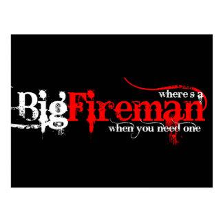 Big Fireman Postcard