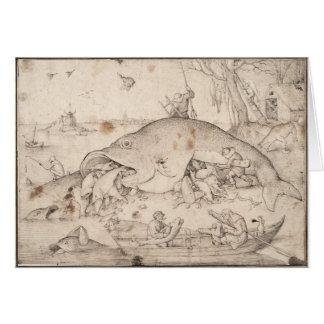 Big Fish Eat Little Fish by Pieter Bruegel Card