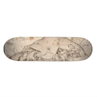 Big Fish Eat Little Fish by Pieter Bruegel Custom Skateboard