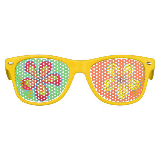Big Flowers Fun Party Shades Favors Glasses