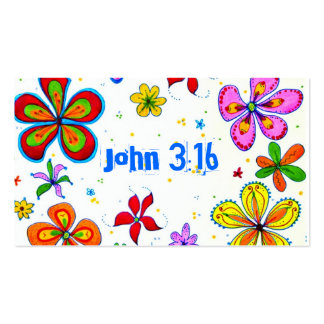 Big Flowers Scripture Memory Cards Bulk Pack Of Standard Business Cards