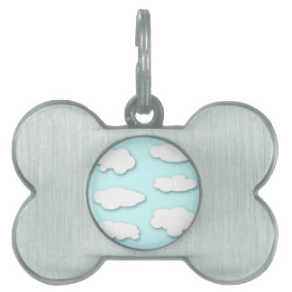 Big Fluffy Clouds Pet Name Tag