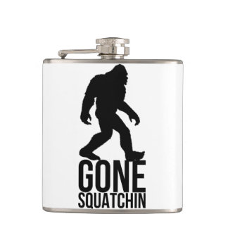 Big foot gone squatchin hip flask