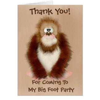 Big Foot/ sasquatsh Thank You Note Card